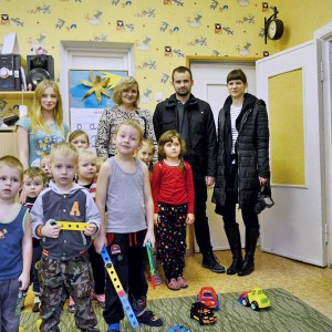 Szkoła - przedszkole w Glinciszkach.