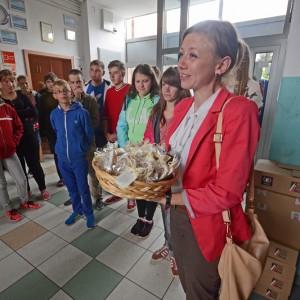 Pani Czesława Szablińska - dyrektor szkoły z Wileńszczyzny.