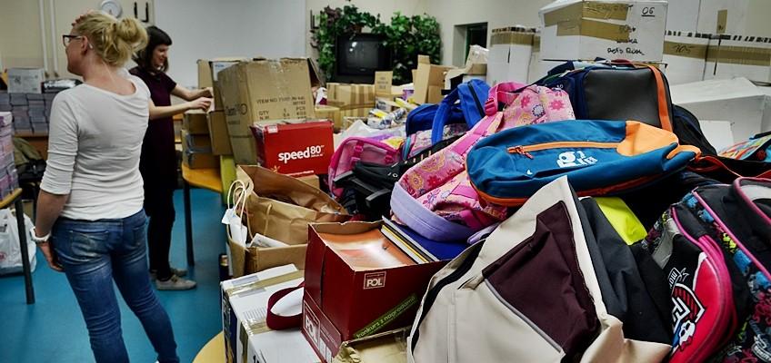 Pakowanie zebranych darów